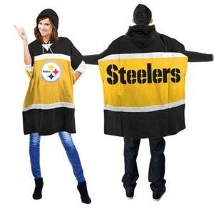 Pittsburg Steelers Pancho/Hoodie One Size